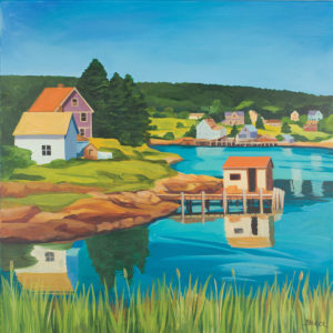 Catherine Breer Coastal Village Art Print