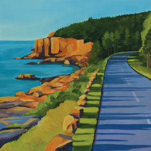 Catherine Breer Park Loop Road Art Print