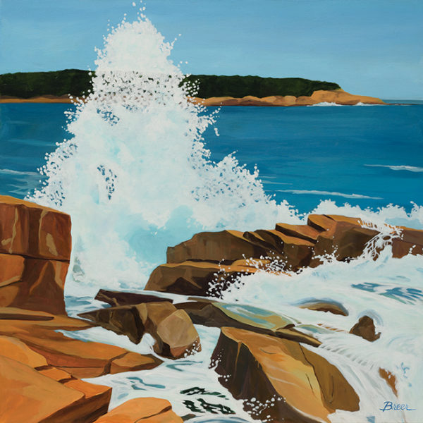 Catherine Breer Wave Crashing Art Print