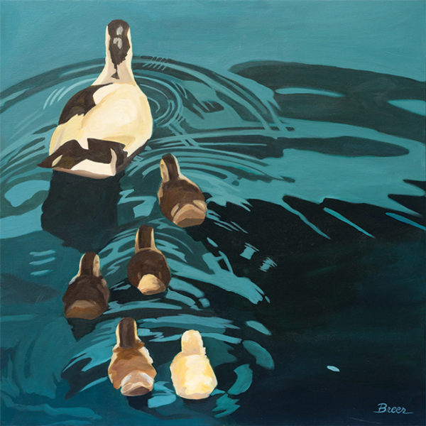 Catherine Breer Out For A Swin Art Print