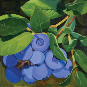 Catherine Breer Blueberries Art Print