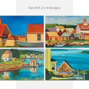 Catherine Breer Coastal Towns Notecard