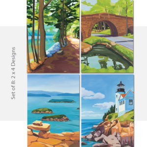Catherine Breer Travels in Acadia Notecard