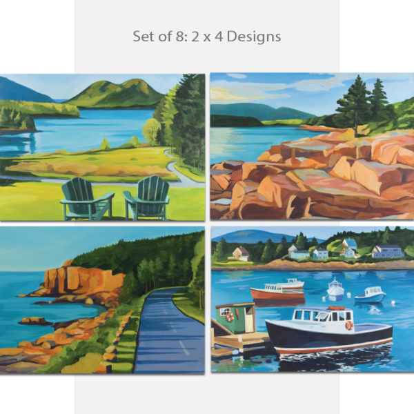 Catherine Breer Acadia Water View Notecard