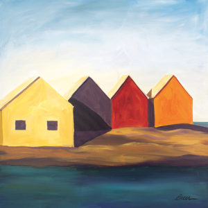 Catherine Breer Fishing Shacks Art Print