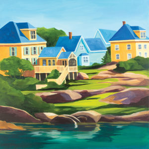 Catherine Breer Stonington Houses Art Print