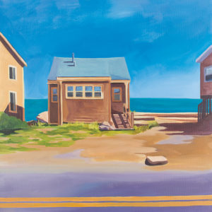 Catherine Breer Lonely Beach House Art Print