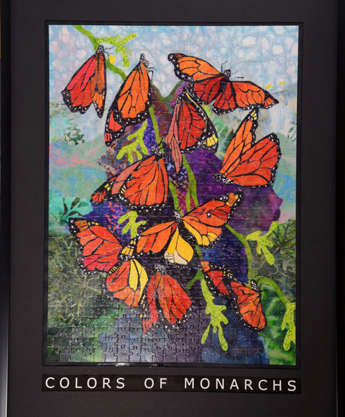 Colors of Monarch Jigsaw Puzzle Framed