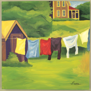 Breer Laundry Art Print 6x6