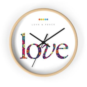 Love Wall Clock Natural