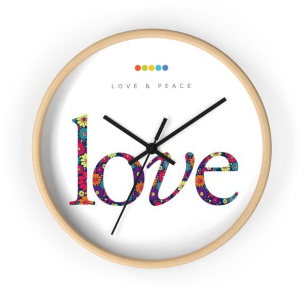 Love Wall Clock Natural