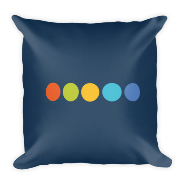 down-the-hill decorative pillow back side