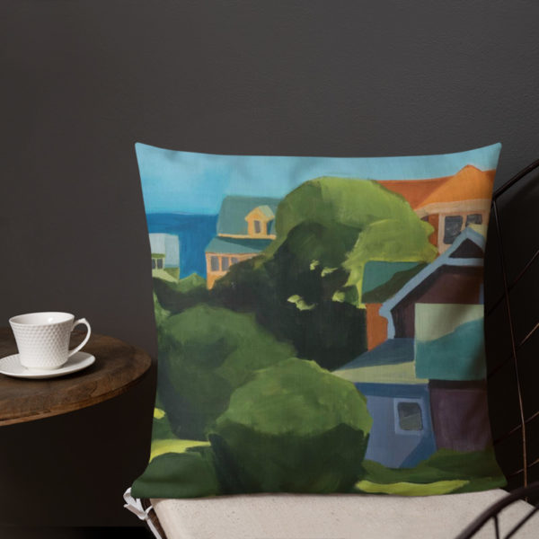 down-the-hill decorative pillow at home