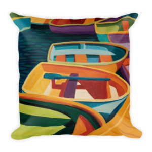 Color-of-Boats Decorative Pillow