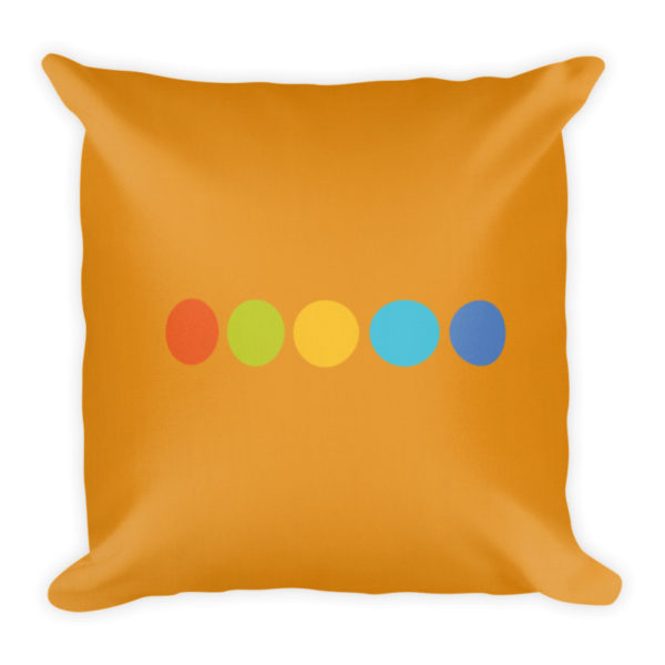 Color-of-Boats Decorative Pillow Back Side