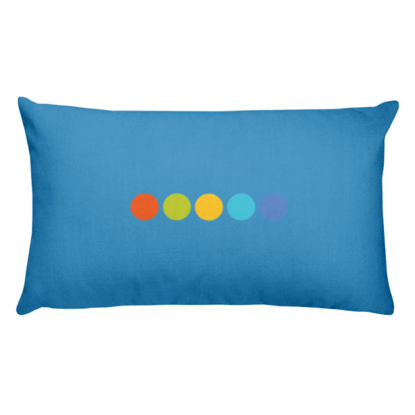 Dancing-Light Decorative Pillow Back Side