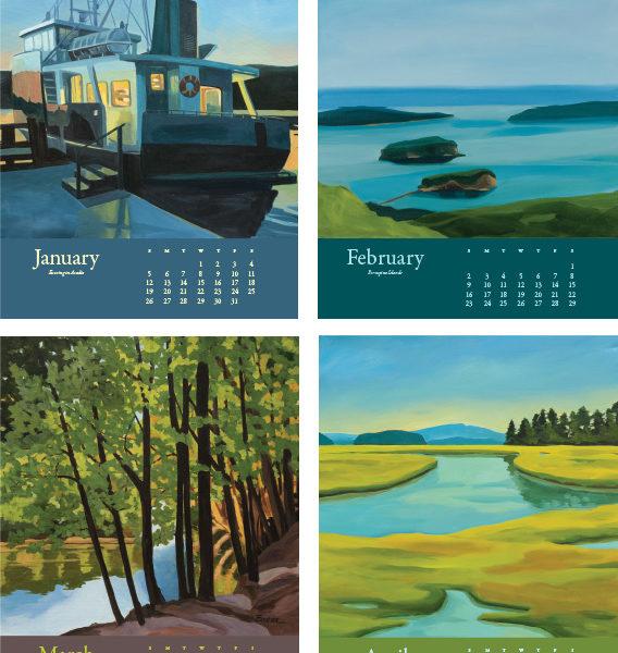 2020 Catherine Breer Acadia Calendar Detail 1