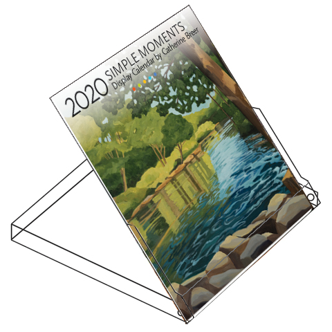 2020 Catherine Breer Simple Moments Display Calendar