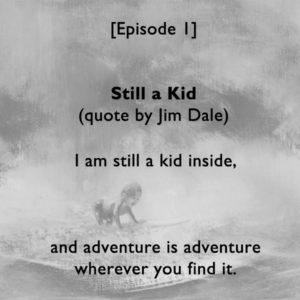 Still a Kid faded bw w text