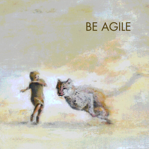 Be Agile Motivational Tile Trivet