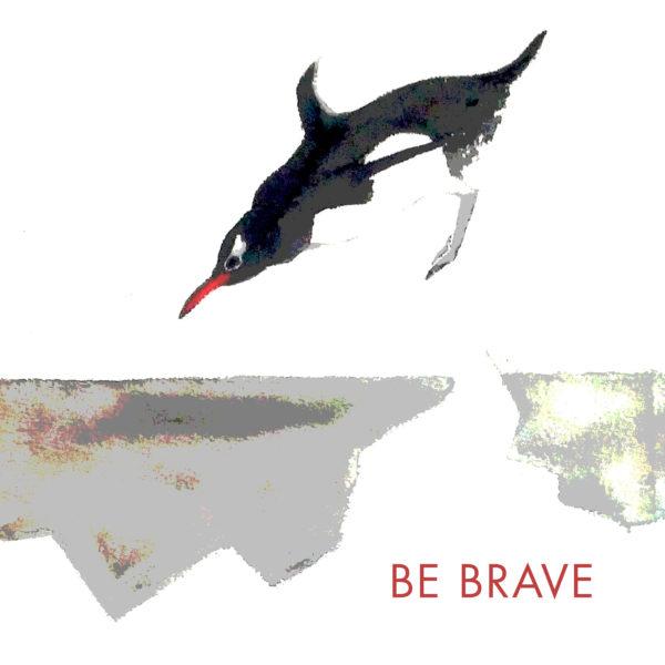 Be Brave Mini Motto Tile Trivet