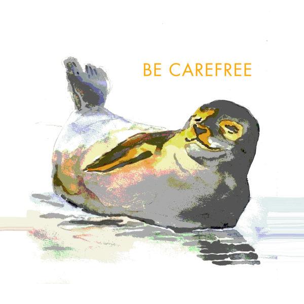 Be Carefree Mini Motto Tile Trivet
