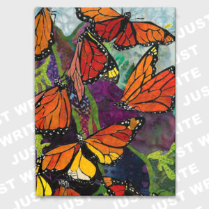 monarch butterflies hardcover journal