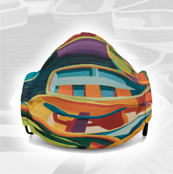 Colors of Boats Art Face Mask