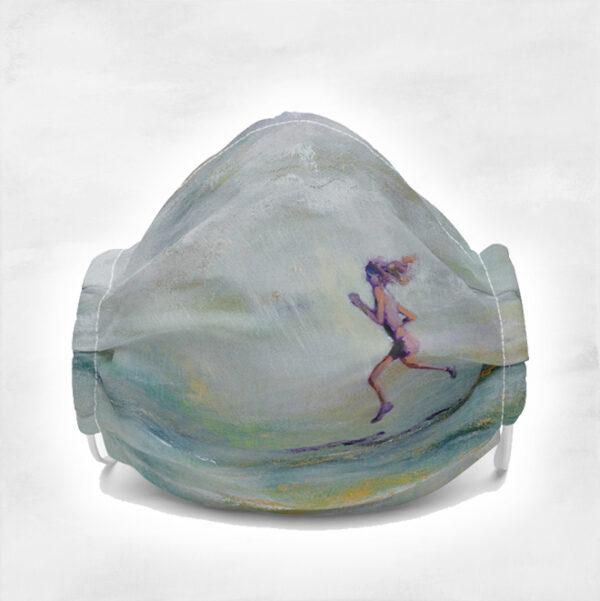 Runner I Am Free Art Face Mask